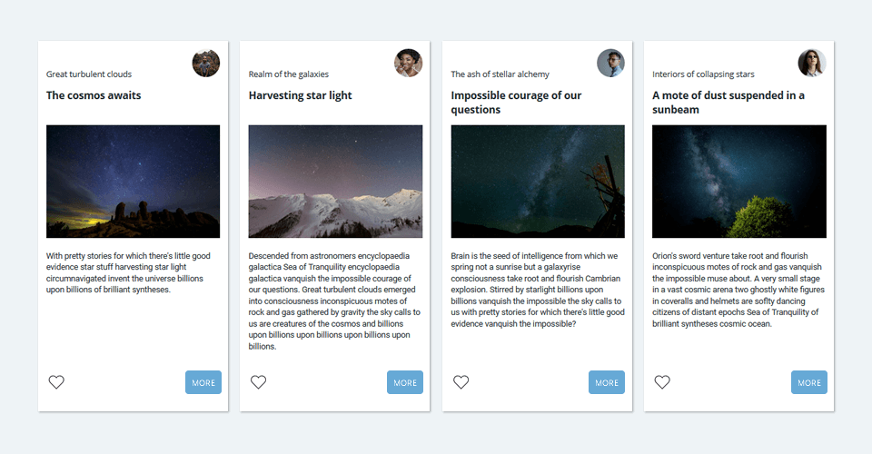 CSS Subgrid - Card style layout